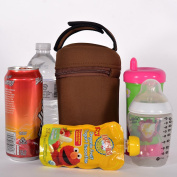 Unisex Insulated Tote Bags-Fits All Brands BottlesGreat For Sippy Cups, Sports Drinks, Snack Packs- 2 Brown Carriers Order Today
