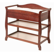 L.A.BABY 1305C SLEIGH CHANGER WITH DRAWER CHERRY- Cherry