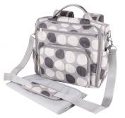 Yodo Mommy Baby Nappy Shoulder Bag Backpack, Grey Polka Dot