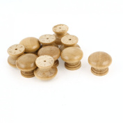 10Pcs Screwed Fixing Door Drawer 2.8cm Dia Wooden Pull Knob Handle