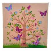 Nursery Framed Print - Tree with Butterflies