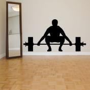 Wall Room Decor Art Vinyl Sticker Mural Decal Sport Gym Body Builder Power Free Weight Lift Lifter AS2124