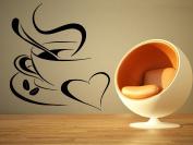 Wall Room Decor Art Vinyl Sticker Mural Decal Coffee Shop Cup Sign Logo Emblem Outdoor Cafe AS2123