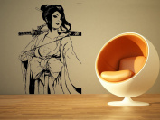 Wall Room Decor Art Vinyl Sticker Mural Decal Pin Up Geisha Assassin Ninja Samurai Warrior Big AS2114