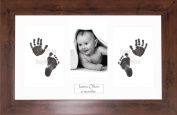 Anika-Baby BabyRice Baby Hand and Footprints Kit includes Black Inkless Prints/ Mahogany effect Frame with White Mount Display