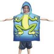 Kids Frog Towel Poncho