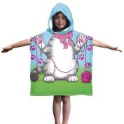 Kids Cat Towel Poncho