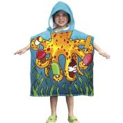 Kids Octopus Towel Poncho