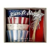 Meri Meri Stars & Stripes Patriotic Cupcake Kit