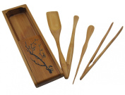 Bamboo 5 Pieces Tea Accessories Chinese Kongfu Tea Ceremony Utensils Set