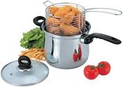 3 Pc 3.8l Deep Fryer Set