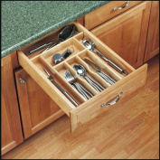 Rev-A-Shelf 4WCT-1 4WCT Series 38cm Wide Trimmable Maple Cutlery Tray Insert Natural Wood