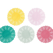 Talking Tables Truly Scrumptious Mini Paper Doilies (100 Pack), Multicoloured