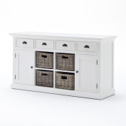 NovaSolo Halifax Buffet with 3 Basket Set, White