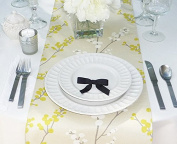 Beige, Yellow and White Table Runner