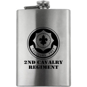 Army 2nd Cavalry Regiment Subdued 240ml Flask