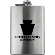Army 28th Infantry Division Subdued 240ml Flask