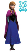 Frozen Anna w/Cape Peel and Stick Giant Wall Decal and Snowflake Mini Sheet Bundle