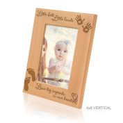 Kate Posh - Little Feet, Little Hands Leave Big Imprints in Our Hearts - Picture Frame