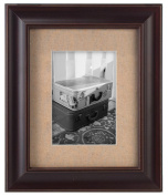 Malden International Designs Barnside Textured Mat 20cm by 25cm Walnut Picture Frame, Holds 13cm by 18cm Picture