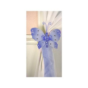 The Butterfly Grove Emily Butterfly Curtain Tieback for Baby, Hawaiian Blue, Small/13cm x 10cm