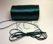 50 Yards - 2mm Hunter Green Satin Rattail Cord Chinese/china Knot Rat Tail Jewellery Braid 100% Polyester