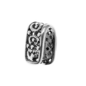 Sterling Silver Ornate Pinch Bail Small