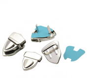 Housweety 10 Sets Silver Tone Purse Snap Clasps/ Closure Purse Handbag 4.1x3cm