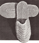 Vintage Crochet PATTERN to make - Mens Spa Slippers Slides Scuffs Soft Shoes. NOT a finished item. This is a pattern and/or instructions to make the item only.