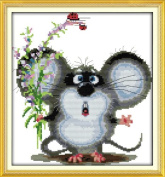 Happy Forever Cross Stitch, animal, Big ears mice