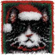 Caron Wonder Art Christmas Cat Latch Hook Kit #4695