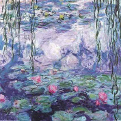 Greek Art Paintworks Paint Colour By Number Kit,Water Lilies,41cm by 50cm