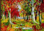 Greek Art Paintworks Paint Colour By Number,Autumn Forest,41cm by 50cm