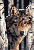 Greek Art Paint By Number,Wolf styleB,41cm -by-50cm
