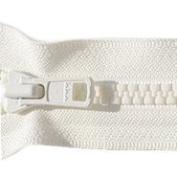 28cm Vislon Zipper ~ YKK #5 Moulded Plastic ~ Separating - 841 Snow White