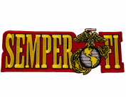 United States US Marine Corps Semper Fi Iron or Sew on Embroidered Shoulder Patch
