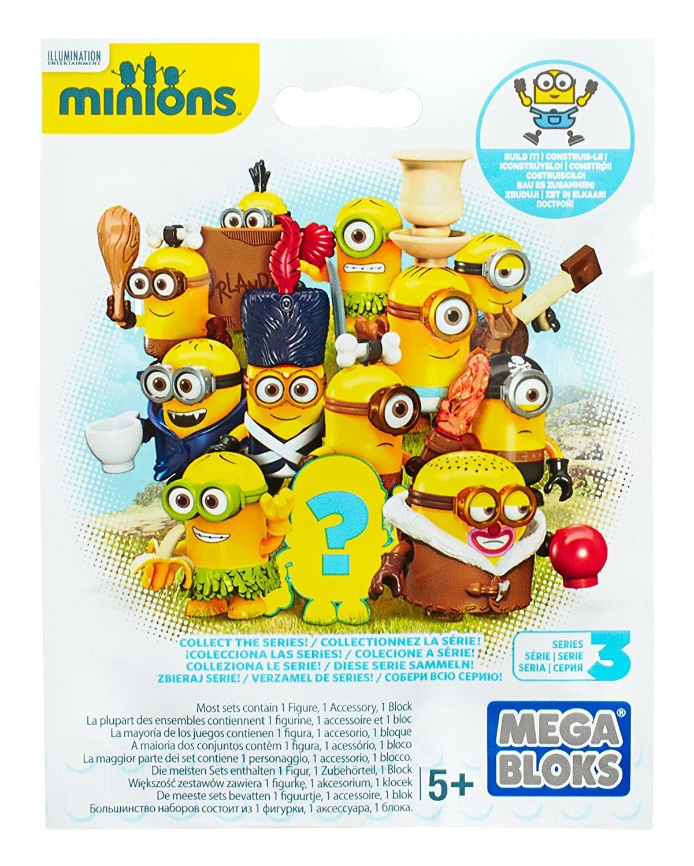 Sent at Random Mega Bloks Despicable Me Minions Blind Box Series 3 Pack of 3