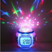 Desktop Table Clocks Music Starry Star Sky Projection Alarm Clock Calendar Thermometer