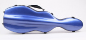 String House SG300B Fibreglass Violin Case Cello-Shaped Blue Full Size 4/4