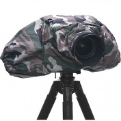 Matin DSLR SLR Camera 300mm Long Lens Deluxe Rain Cover Professional V2 - Camouflage Woodland