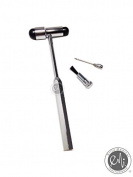 EMI Buck Neurogical Reflexes Testing Hammer with Needle and Brush- Black