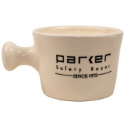 Parker Safety Razor Deluxe Ivory Stoneware Apothecary Style Shave Mug - Handmade in the USA