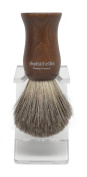 Spitalfields Shaving Company 100% Pure Badger Bristle with Faux Ebony Beechwood Handle Shaving Brush and FREE Acrylic Stand - Columbia Road