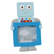 Light Blue Fun Robot Photo Frame By Haysom Interiors