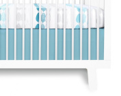 Olli & Lime Forrest Crib Skirt, Blue/White