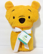 Disney Baby Winnie the Pooh Hooded Bath Towel / Beach Towel. Yellow with embroidered face. Comes with attached bow and gift tag.