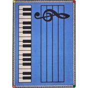 Joy Carpets Kid Essentials Music & Special Needs Play Along Rug, Blue with Keys, 2.1m x 3m