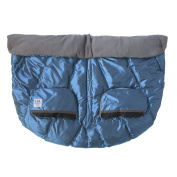 7 A.M. ENFANT Duo Double Stroller Blanket, Metallic Steel Blue