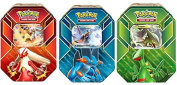 ALL 3 TINS - Pokemon 2015 EX Hoenn Power Trio Tins - Sceptile, Blaziken, & Swampert !