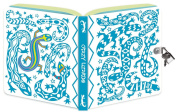 Peaceable Kingdom / Crazy Lizard Colour-In Shiny Foil Cover Lock & Key Diary